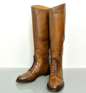 Gucci Boulanger Equestrian Lace-up Brown Boots