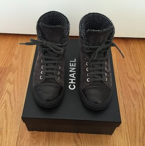 Chanel Black and Grey Boots