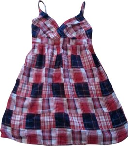 faded glory short dress Multi Plaid Festive Empire Waist on Tradesy