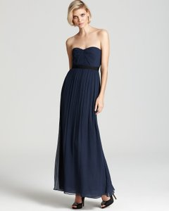 BCBGMAXAZRIA Silk Sweetheart Neckline Strapless Full Length Dress