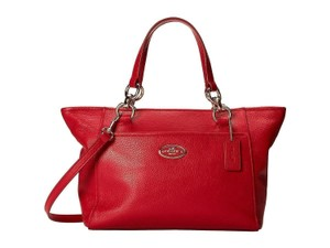 Coach Chicago Ellis Leather Tote in Red