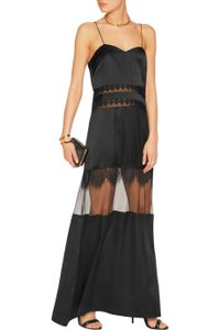 self-portrait Lace Lace Trim Maxi Gown Dress