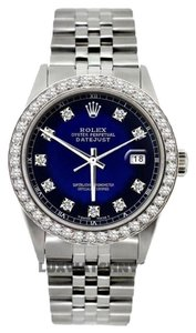 Rolex MEN'S ROLEX DATEJUST S/S DIAMOIND WATCH WITH ROLEX BOX & APPRAISAL
