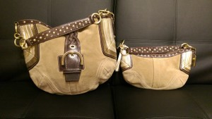Coach Suede Studded Hobo Bag
