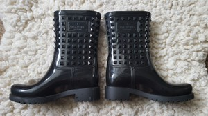 Valentino Rubber Rockstud Studded black Boots
