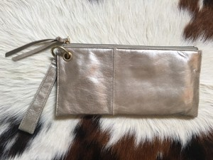 Hobo International Leather Gold Clutch