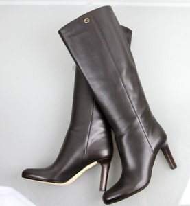 Gucci Georgina Leather Dark Brown Boots