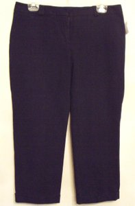 Chico's Stretch Comfortable Cuffed Pants Capris Black