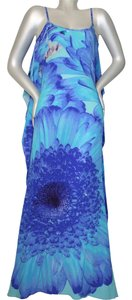 Victoria Luxury Silk short dress blue Bleu on Tradesy