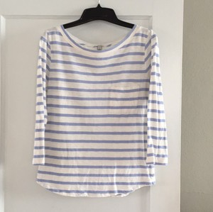 J.Crew T Shirt Cornflower blue and white