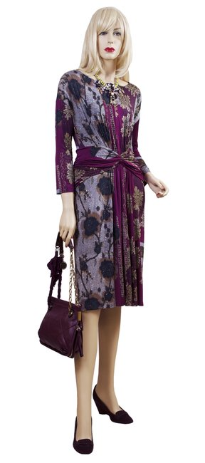 Item - Multicolor Color Printed Mid-length Night Out Dress Size 10 (M)