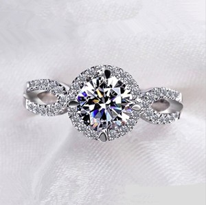Other 2 Ct Cubic Zirconia White Gold Plated Ring Women's Size 6