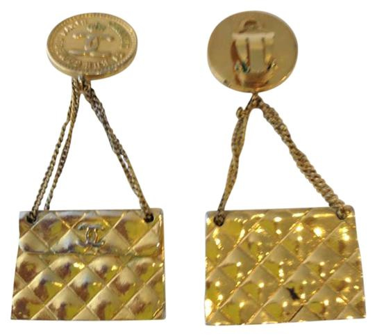 Preload https://item5.tradesy.com/images/chanel-gold-tone-vintage-purse-earrings-199224-0-0.jpg?width=440&height=440