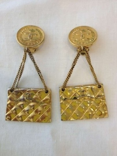 Chanel Authentic Vintage Chanel Purse Earrings