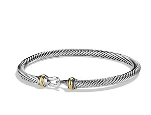 David Yurman Cable Classic Buckle Bracelet with Gold New!!!