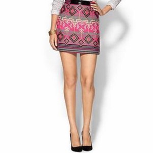 MILLY Mini Skirt Hot pink, grey, black, light pink, gold.