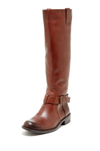 Vince Camuto Leather Riding Brown Brandy Boots