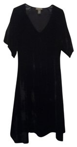 Banana Republic Velvet Lbd Smocked Little V-neck Dress