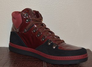 Gucci Leather Sneakers Burgundy Athletic