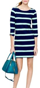 J.Crew short dress Navy and Mint Green on Tradesy