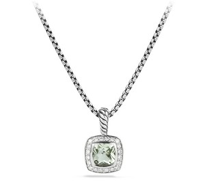 David Yurman Petite Albion Pendant Necklace with Prasiolite and Diamonds New!!!