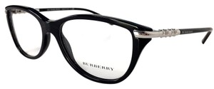 Burberry BURBERRY Black and Silver Eyeglasses