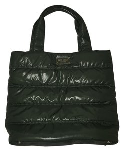 Kate Spade Fall Patent Tote in Forest