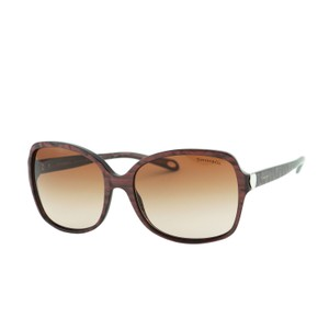 Tiffany & Co. New Tiffany TF4085 Hearts Square Spotted Brown Sunglasses