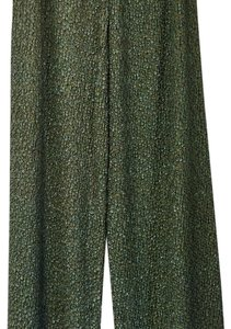 French Dressing Trouser Pants Shimmery moss green/gold undertones