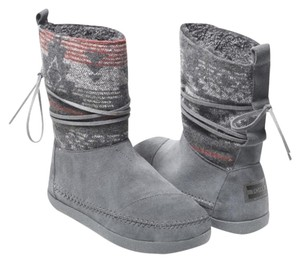 TOMS Gray/burgundy Boots