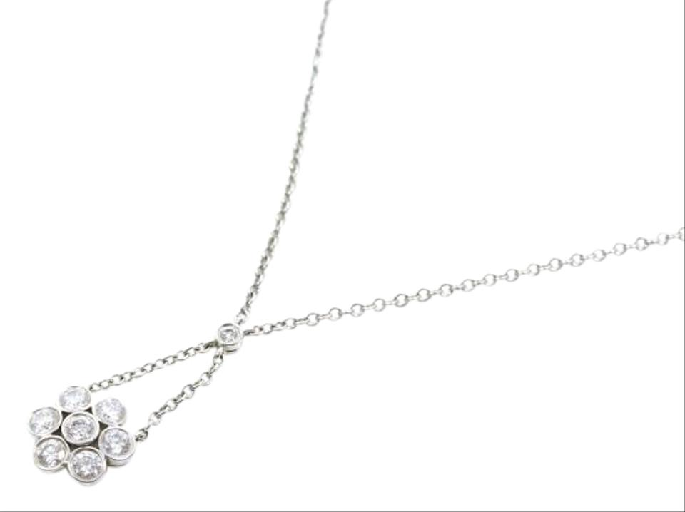 view diamond retro necklace rose platinum main and gold