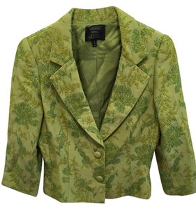 Carmen Marc Valvo Vintage Beaded Embroidered Green Blazer