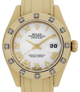 Rolex Rolex 80318 Masterpiece 18k Yellow Gold White Roman Dial Watch