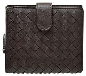 Bottega Veneta RDC7551 Bottega Veneta Espresso Intrecciato Leather Mini Wallet
