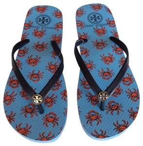 Tory Burch Blue and Red Sandals
