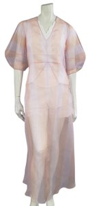 Dior short dress White Silk V-neck Scalloped on Tradesy