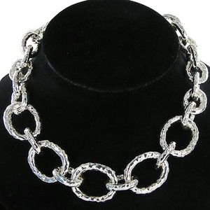 Ippolita Ippolita Glamazon Necklace Bastille Hammered Links 18 Sterling Silver
