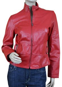 Siena Studio Leather Moto Red Jacket
