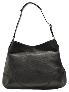 Gucci Embossed Leather Medium Hobo Bag