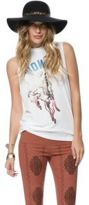 The Laundry Room One Size Muscle Tee Howdy Love Top white