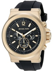 Michael Kors Michael Kors Men's MK8445 Dylan Chronograph Black Dial Silicone Watch