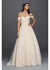 David's Bridal Petite Tulle Wedding Wedding Dress