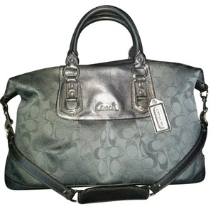 Coach Ashley Charcoal Gray Satchel in Black