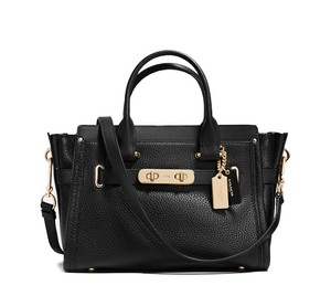 Coach 34816 888067653625 Swagger 27 Satchel in Black