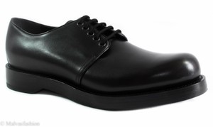 Gucci 358277 Mens Leather Lace-up Shoes Black 10.5g11.5us