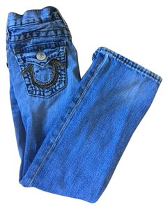 True Religion Kids Boys Size 6 Boot Cut Jeans-Medium Wash