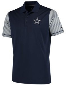 Nike Nfl Polo Shirt Top Navy/Grey