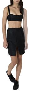 Finders Keepers Highwaisted Metallic Slit Skirt Black