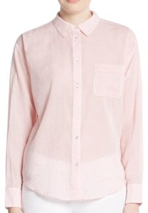 Elizabeth and James Button Down Shirt Pink and white