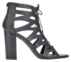 JustFab Aviva Lace-up Black Sandals